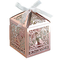 Boites Cages à Oiseaux Rose Gold avec Dragées
