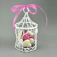 La Mini Tonnelle Métal Blanc Cage à Oiseaux Luxe