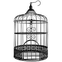 La Cage à Oiseaux Urne et Décoration Métal Noir