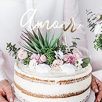 Cake Topper Amour Doré