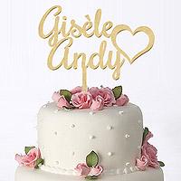 Cake Topper Personnalisé pas cher