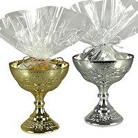 Coupes Calices Métalisées Contenant Dragées Communion