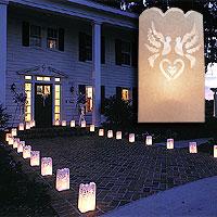 Lot de 10 Sacs Luminaires pour Allée ou Jardin Colombes