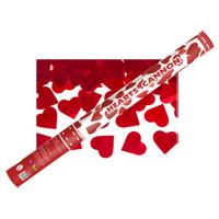 Le Canon Explosif GEANT Confettis Coeurs Rouge Métalliques