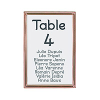 Marque Table Rose Dore Cadre Photo