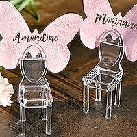 Marque Place Petite Chaise en Pvc Transparent