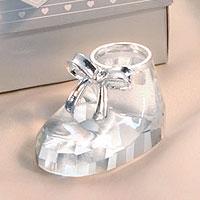 Le Chausson de Bébé en Cristal Boite Cadeau