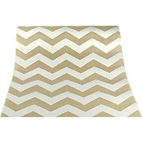 Chemin de Table Lin Chevrons Blancs