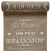 Chemin de Table Je T'aime Beige