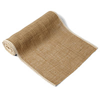 Chemin de Table en Jute Bordure Dentelle