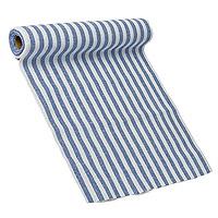 Le Chemin de Table Coton Rayé Bleu Marine