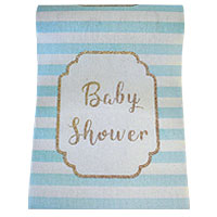 Chemin de Table Baby Shower Ciel