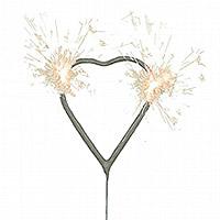 Lot de 10 Cierges Magiques Forme Coeur
