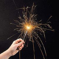Lot de 10 Cierges Magiques 25 cm effet Or