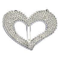 Lot de 10 Coeurs Argentés Perlés de Décoration