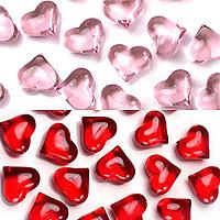 Coeurs Cristal Transparents Deco de Table Mariage