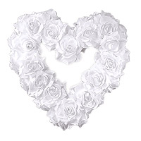 Le Coeur Géant Roses Blanches Luxe XXL