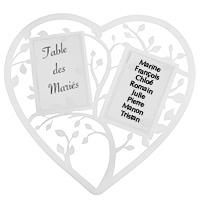 Marque Table Mariage Coeur Stylisé Géant