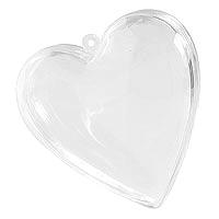 Lot de 3 Coeurs Translucides Contenant 8 cm