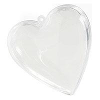 Lot de 3 Coeurs Translucides de Décoration 8 cm