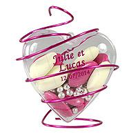 Coeurs Pvc Translucide Contenant Dragées