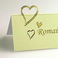 Autocollants Coeurs Ajourés Dorés Mariage