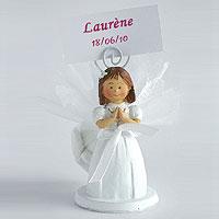Figurines Communion avec Tige Contenant Dragées Communion