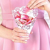 Cornet Cone Confetti Mariage Papier Ajouré