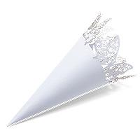 Cones Cornets en papier Papillon Dentelle