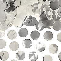 Confettis Déco de Table Rond Argenté