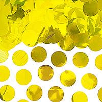Confettis Déco de Table Rond Doré Pas Cher