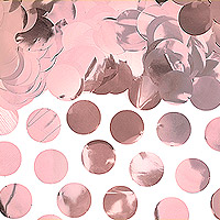 Confettis Déco de Table Rond Rose Gold