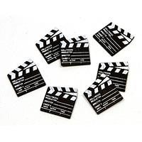 Lot de 25 Mini Claps Cinéma en Bois Confettis