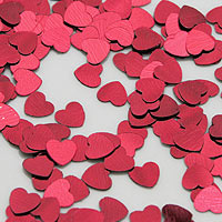 Confettis Déco de Table Métalliques Coeurs