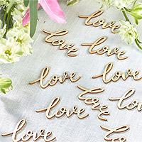 Confetti en Bois Love