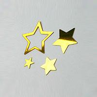 Les Confettis déco de table métalliques Etoiles Ajourées