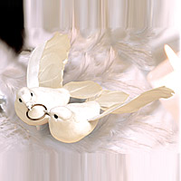 Couple de Colombes Blanches Alliance Deco Mariage