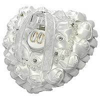 Le Coussin Coeur Plat Rigide Perles Boite Transparente