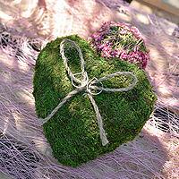 Coussin Coeur Mousse Vert