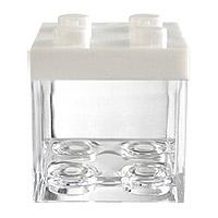 Cube LEGO Contenant à Dragées Blanc x 3