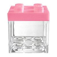 Cube LEGO Contenant à Dragées Rose x 3