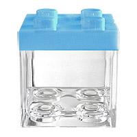 Cube LEGO Contenant à Dragées Bleu x 3