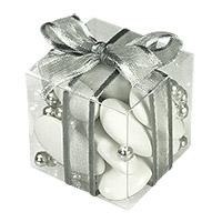 Cubes Dragées Transparents avec Organza