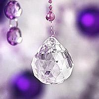 Le Lot de 5 Pendentifs Boule Cristal