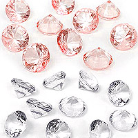10 Diamants Transparents Déco Table 2cm
