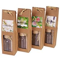 Le Lot de 4 Diffuseurs de Parfum avec Tiges Sac Cadeau