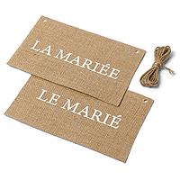 Dos de Chaise Mariage Jute Maries