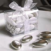 Dragée Chocolat Argent Mariage 500g