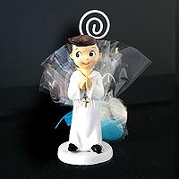 Figurine Communion Garçon Contenant Dragées Communion
