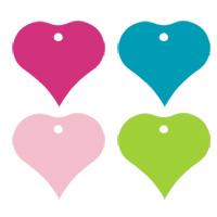 Lot de 4 Etiquettes Coeurs Bristol pour prénoms